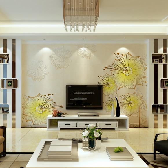 瓷砖背景墙 简约现代 客厅电视机背景墙瓷砖