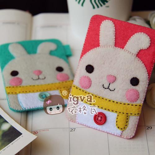 igva 不织布材料包 布织布 兔宝宝 不织布卡套 手工布艺diy材料包