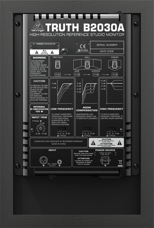百灵达 b2030a 有源监听音箱