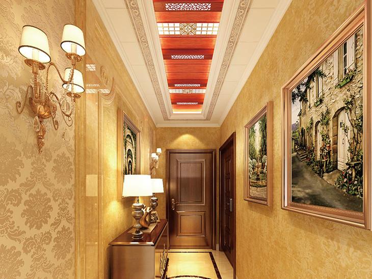 欧式风格走廊效果图 红樱桃扣板 - 欧派全屋吊顶