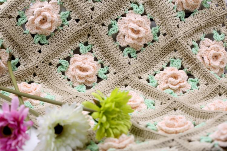 手工编织蔷薇花详细图解