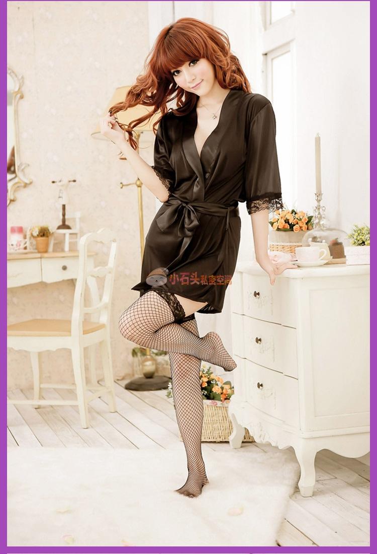 情趣做法透明和服情趣舒适睡裙花边女式套装v情趣情趣内衣性感蕾丝睡衣开裆裤浴袍女式图片