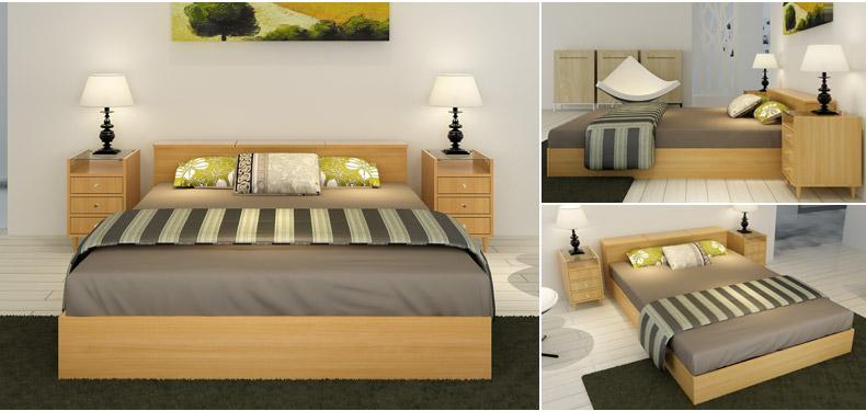 择木宜居 实木床1.8双人床1.5简约现代榻榻米床1.2米单人床田园床