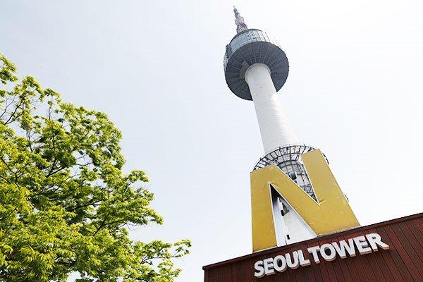 韩国导游 n首尔南山塔