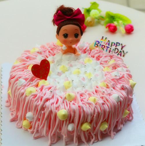 芭比公主 可爱沐浴蛋糕