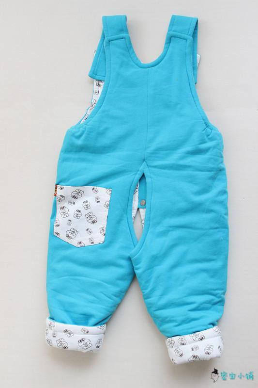 可爱小熊加棉背带裤 纯色秋冬潮服