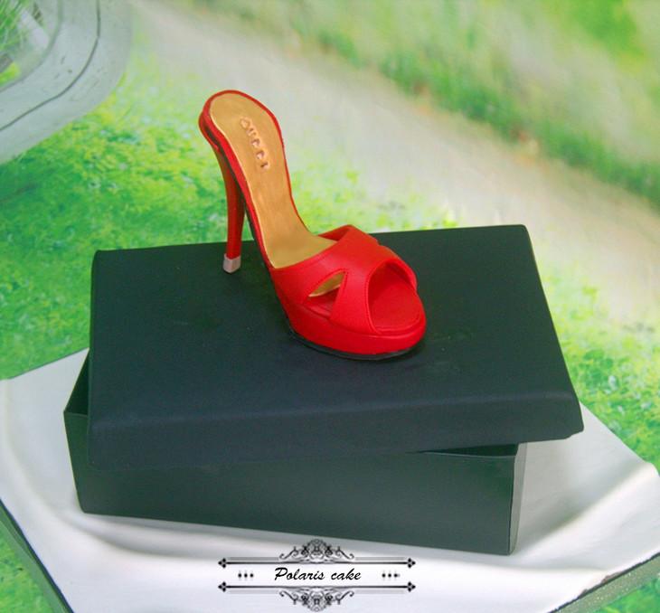 翻糖蛋糕 高跟鞋