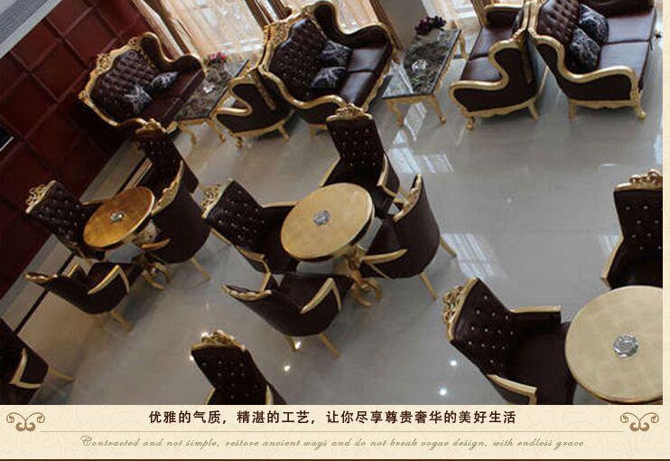 欧式售楼处洽谈沙发 售楼部双人沙发洽谈区桌椅 咖啡厅卡坐家具