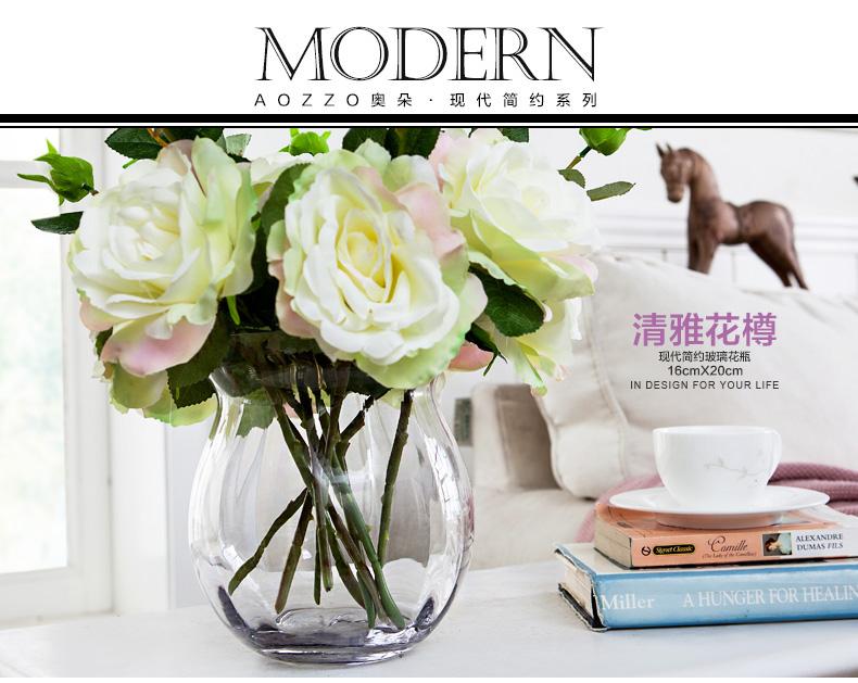 欧式水晶玻璃客厅小花瓶摆件透明