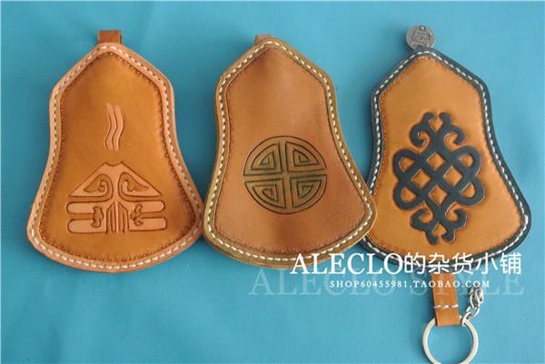 【预定】达音039 蒙古手工 纯手工雕刻头层牛皮钥匙包