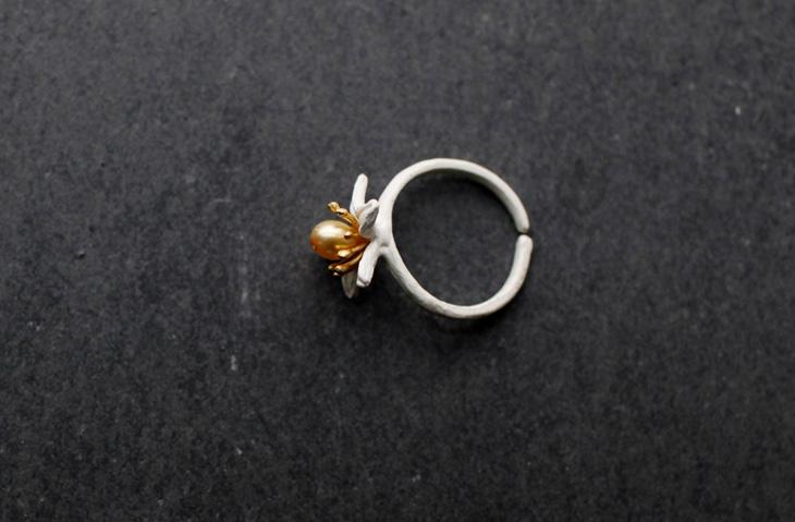 珍珠戒指手绘步骤图