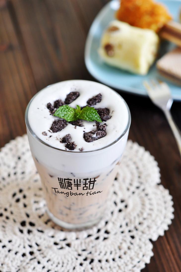 奥利奥盆栽奶茶图片