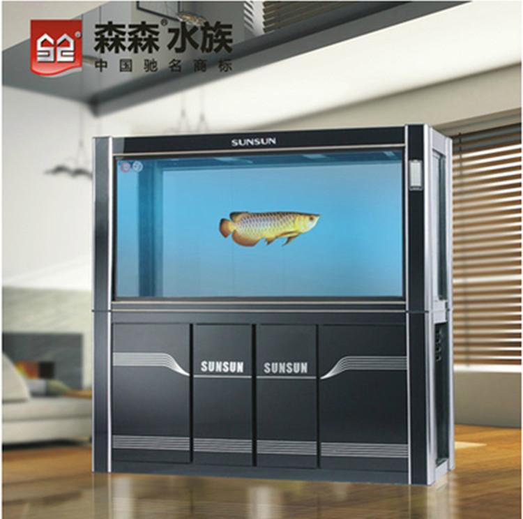 森森新款正品hlgx-1500a大型底部过滤龙鱼缸生态缸图片