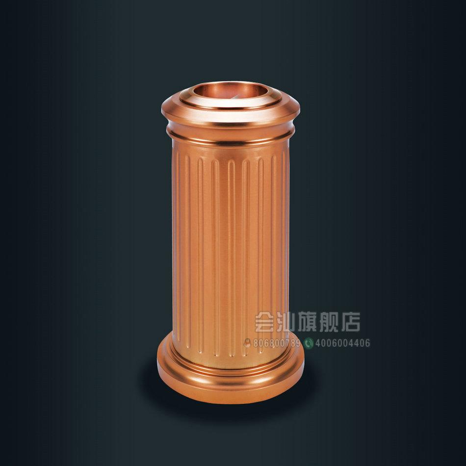 铝制古典商务垃圾桶大堂立式烟灰缸
