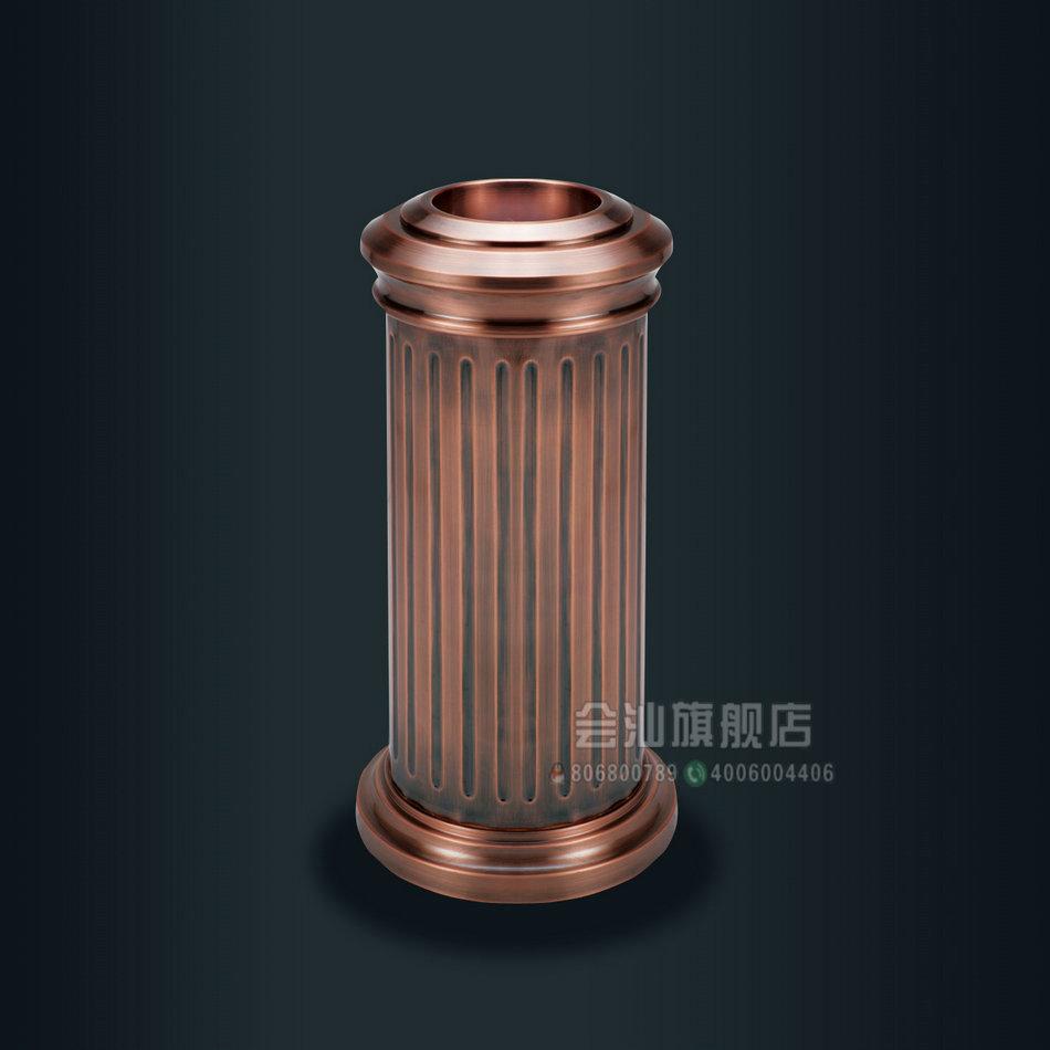 欧式罗马柱烟灰桶 铝制古典商务垃圾桶大堂立式烟灰