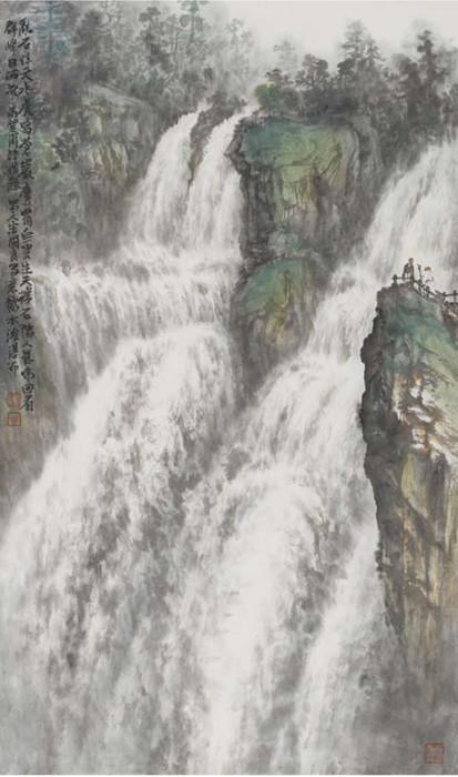 壁纸 风景 旅游 瀑布 山水 桌面 413_700 竖版 竖屏 手机