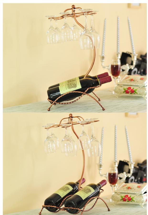 创意红酒架酒柜装饰品摆件客厅电视柜家居摆设欧式品