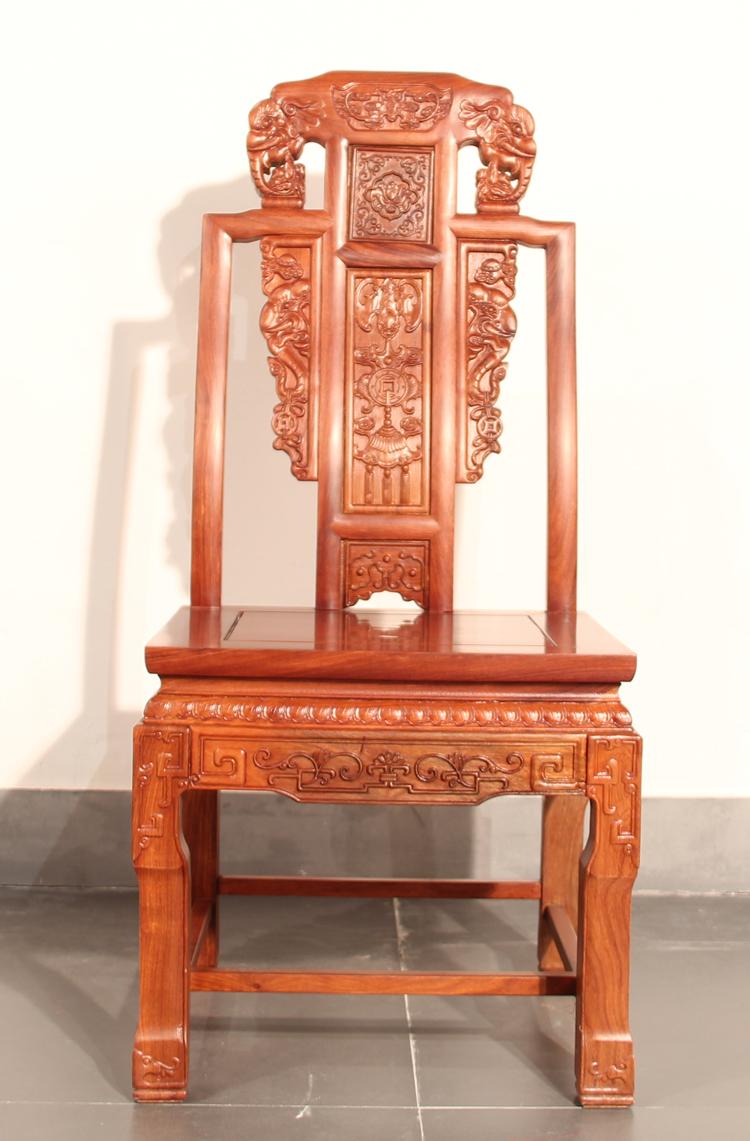 立信红福禄寿西餐桌 红木餐桌 红木家具