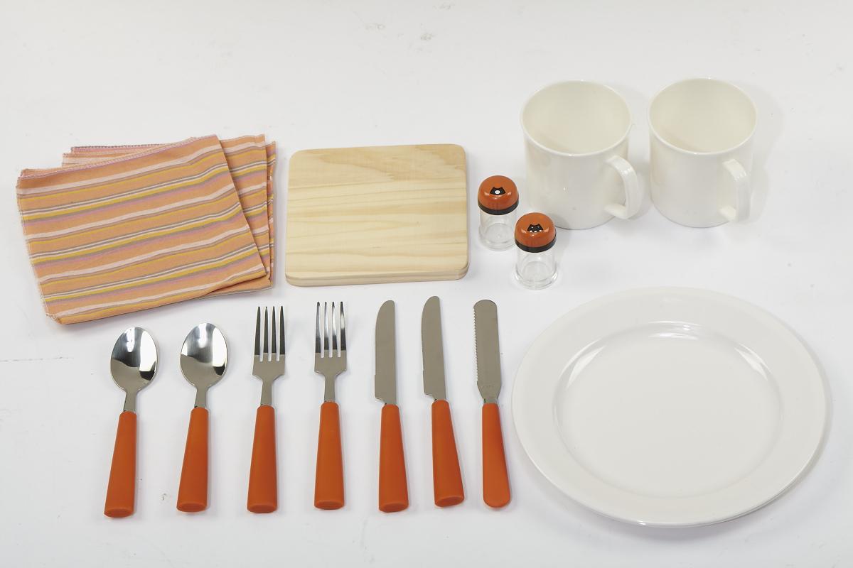 乐游二人组野餐包 户外带餐具杯勺子筷子工具包 情侣款