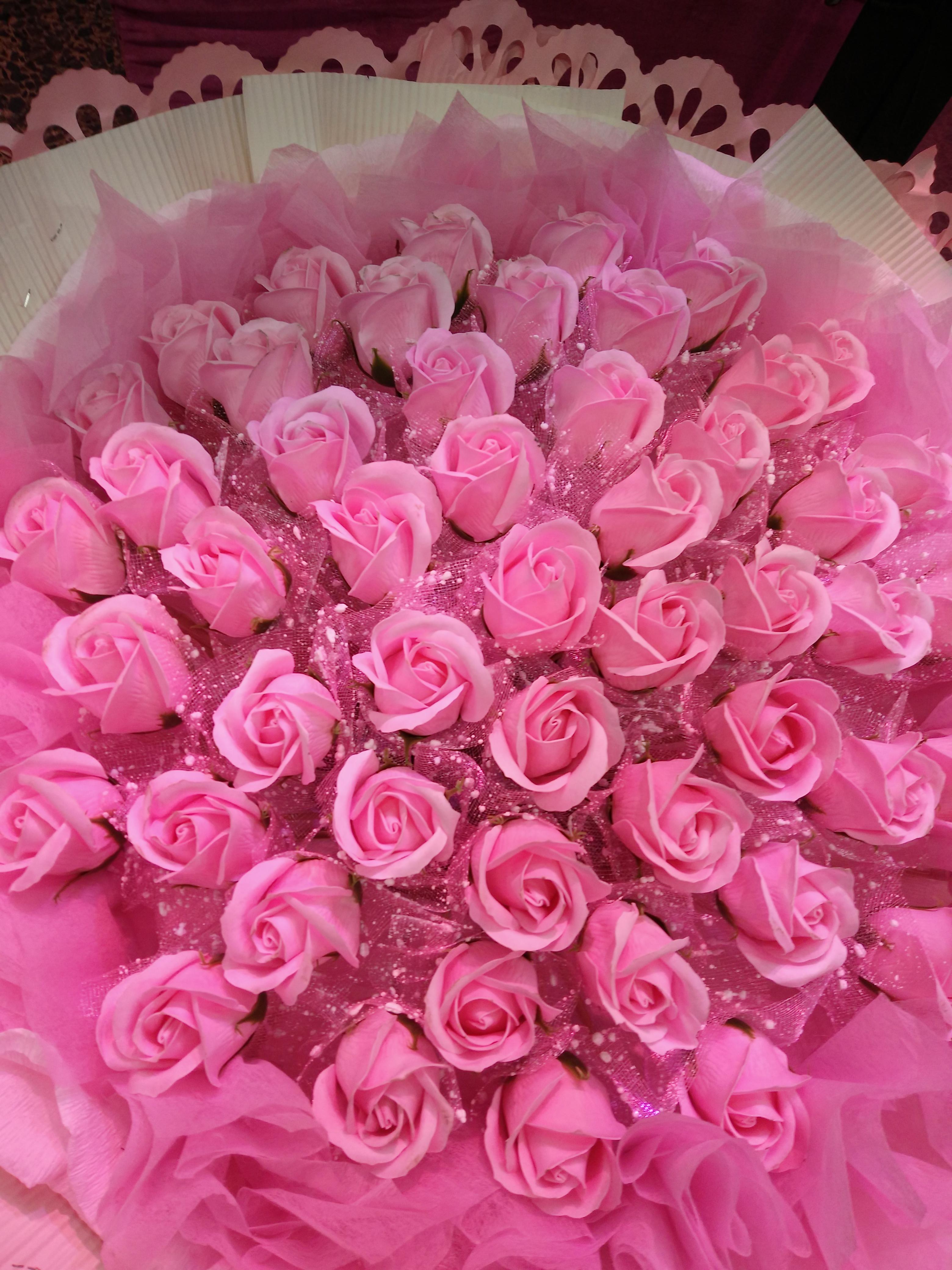 肥皂雕刻花朵图片