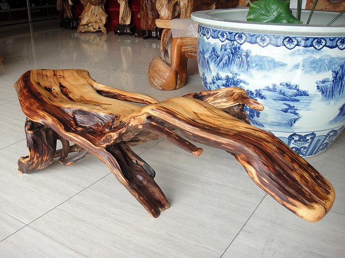 崖柏木雕件油线老料 家居摆件长条板凳贵妃椅坐墩子