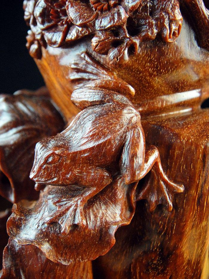 印度小叶紫檀塔香炉香具木雕件 紫檀倒流香炉香座荷叶