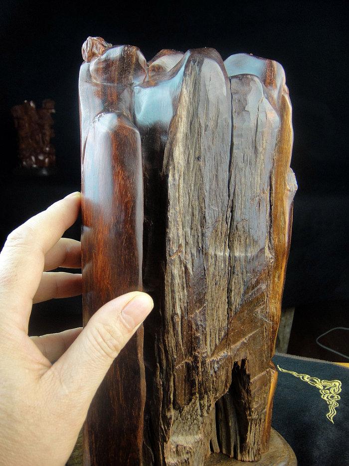 印度小叶紫檀线香炉香具木雕件 紫檀倒流香炉香座达摩