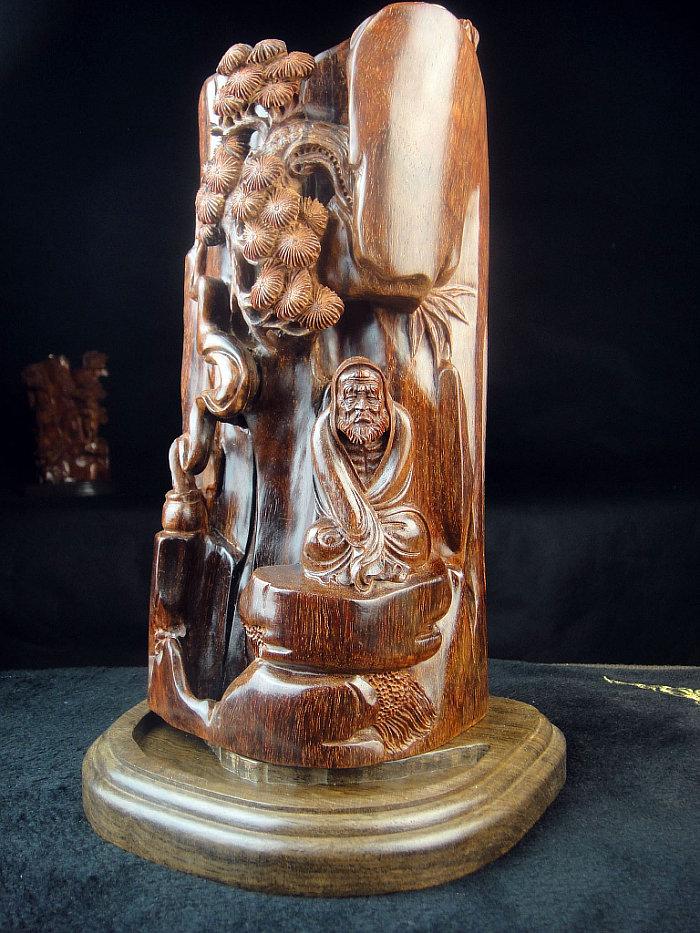 小叶紫檀线香炉香具木雕件