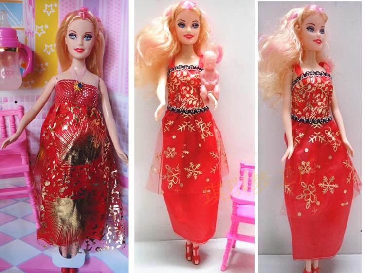 芭比娃娃古代衣服头发分享展示